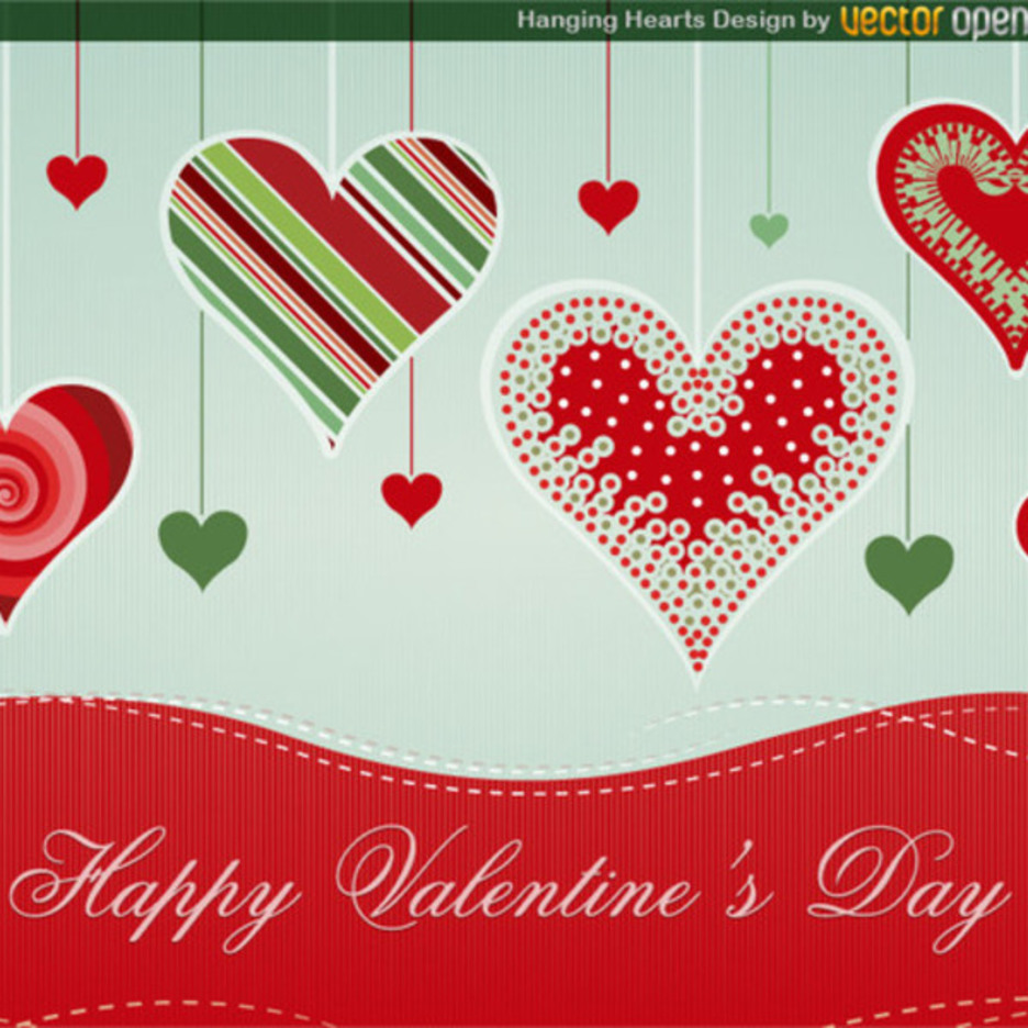 Free Vector Hearts Background Design