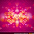 Free Vector Valentine's Heart Background