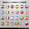 World Cup Flag Vectors
