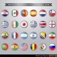 World Cup Flag Vectors