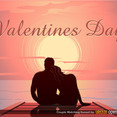 Valentine's Sunset Dock Vector