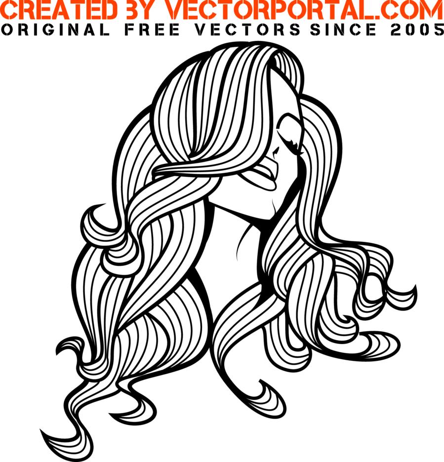 Beautiful Girl Vector Portrait