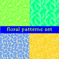 Seamless Floral Vector Patterns