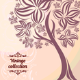 Free Abstract Vintage Tree Vector