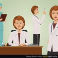 Free Vector Female Doctor Set
