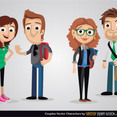 Free Vector Couples Cartoon Characters