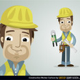 Free Vector Construction Worker Character