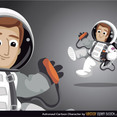 Free Astronaut Vector Cartoon