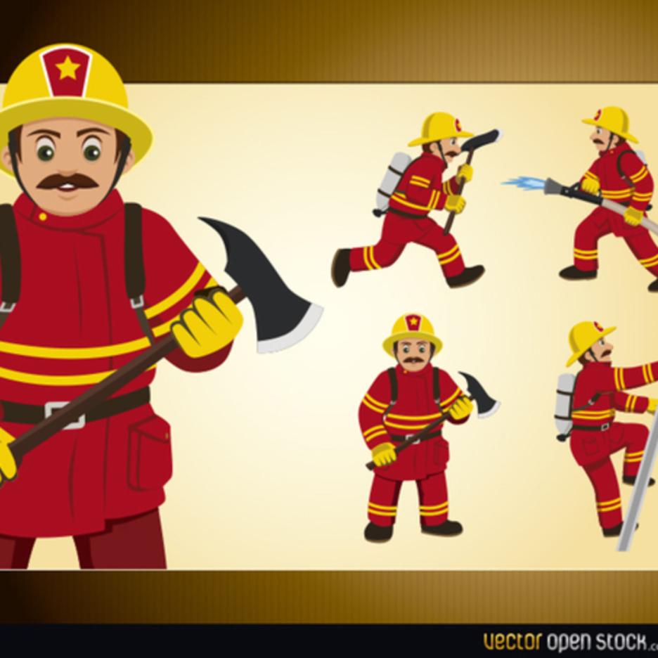 Free Vector Fireman