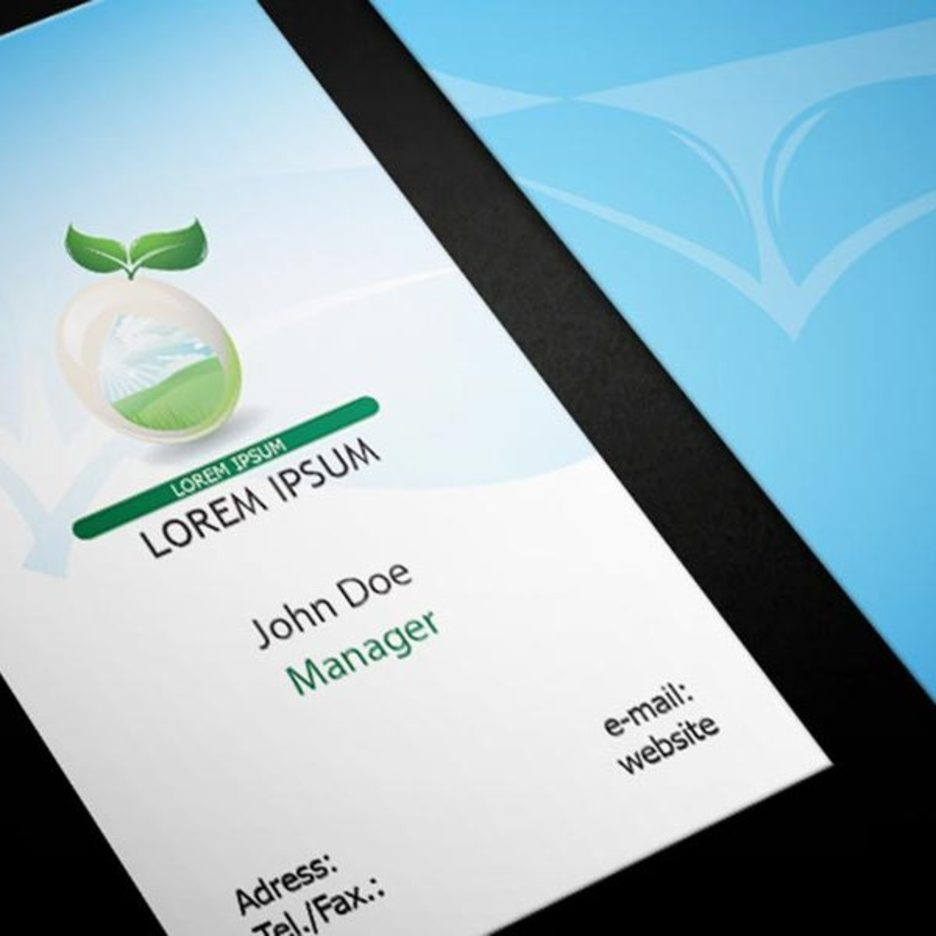 Free Eco Business Card Template