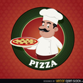 Free Vector Pizza Logo