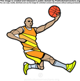 Free Vector Basketball Player