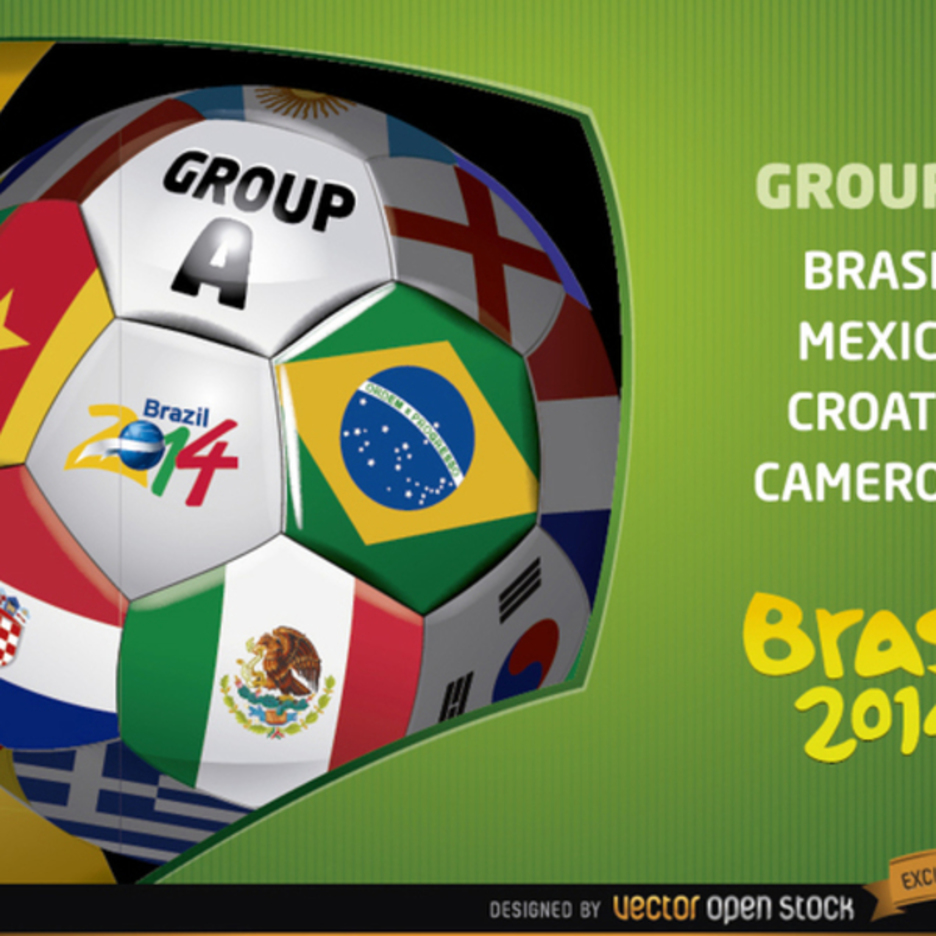 World Cup 2014 Vector Soccer Ball