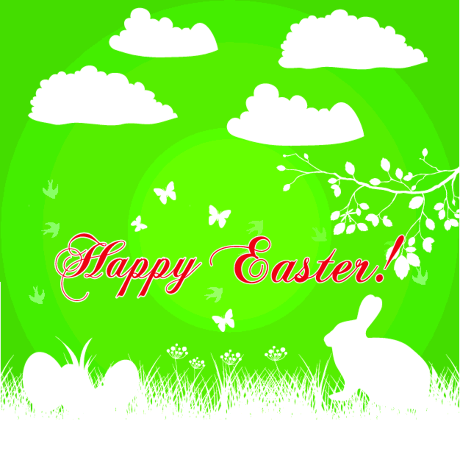 Happy Easter Bunny Background Vector