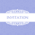 Free Vector Purple Invitation