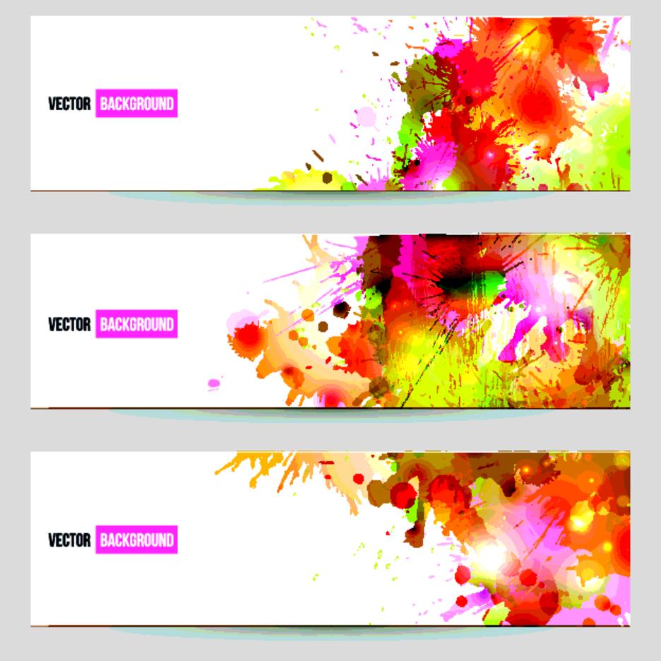 Free Vector Splatter Banners