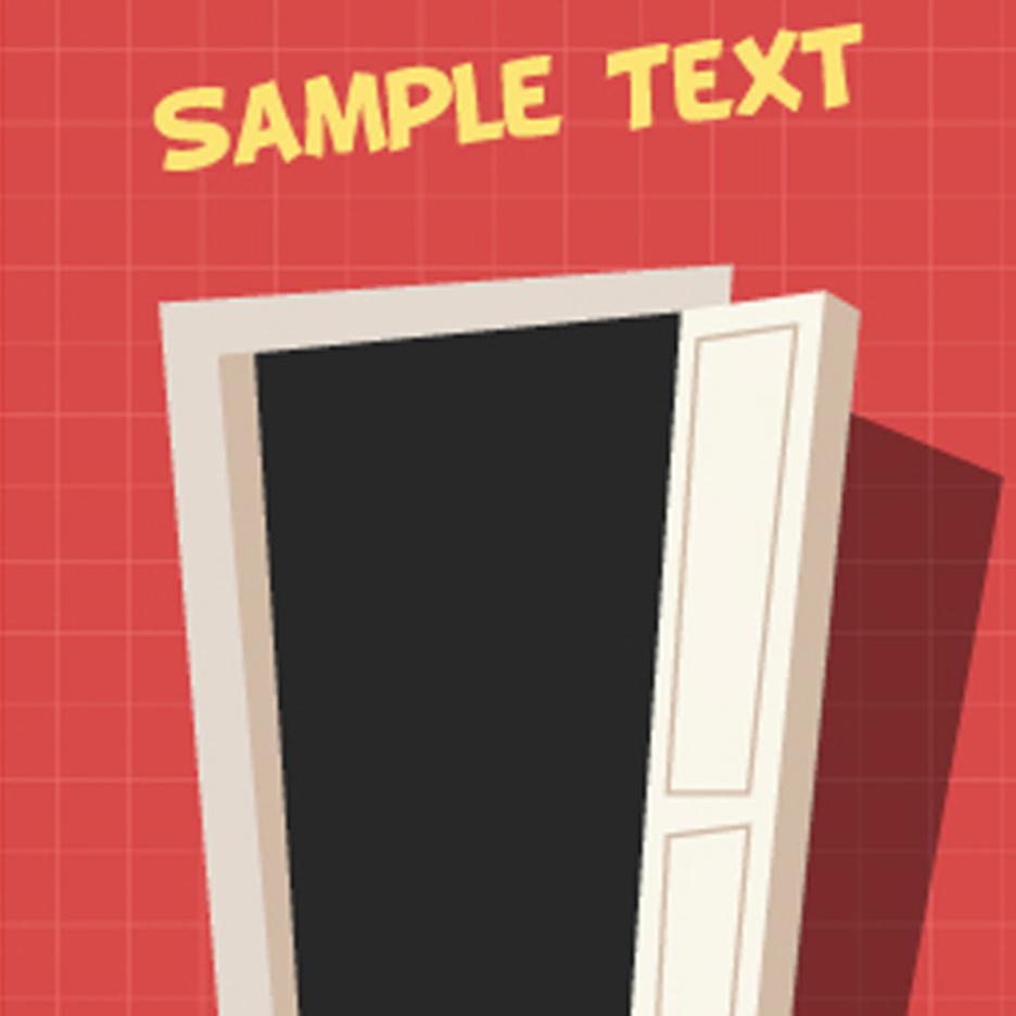 Free Vector Cartoon Door
