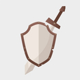 Free Vector Shield and Sword