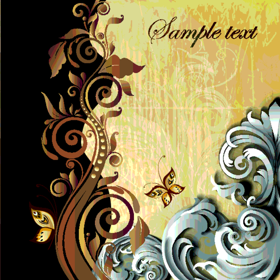Classic Floral Swirl Background Vector