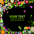 Neon Floral Background