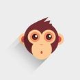 Free Vector Baby Monkey