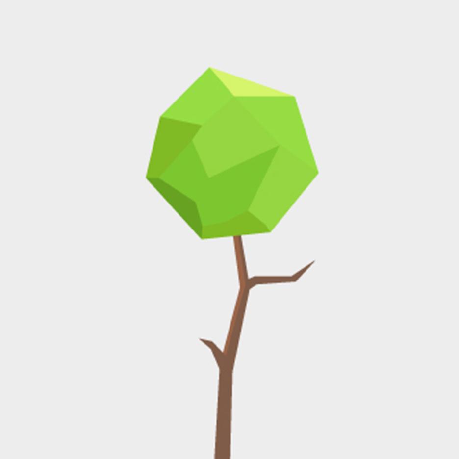 Free Vector Polygonal Tree