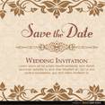 Elegant Floral Wedding Invitation Vector Template