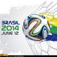 Brasil 2014 World Cup Soccer Vector