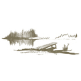 Hand Drawn Serene Lakeside Dock Vectors