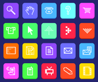 Pixel Web Icon Vectors