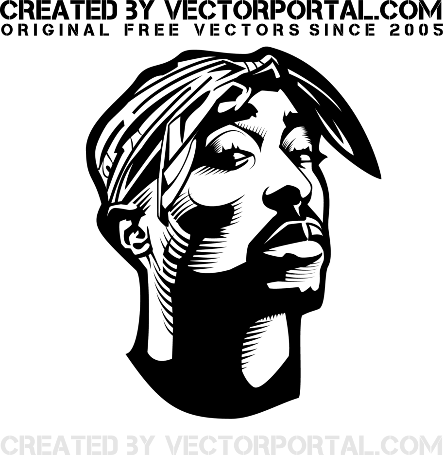 2Pac Shakur Vector Portrait