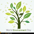 Green Tree Vector for World Environment Day