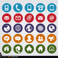 Free Vector Round Web Contact Icons