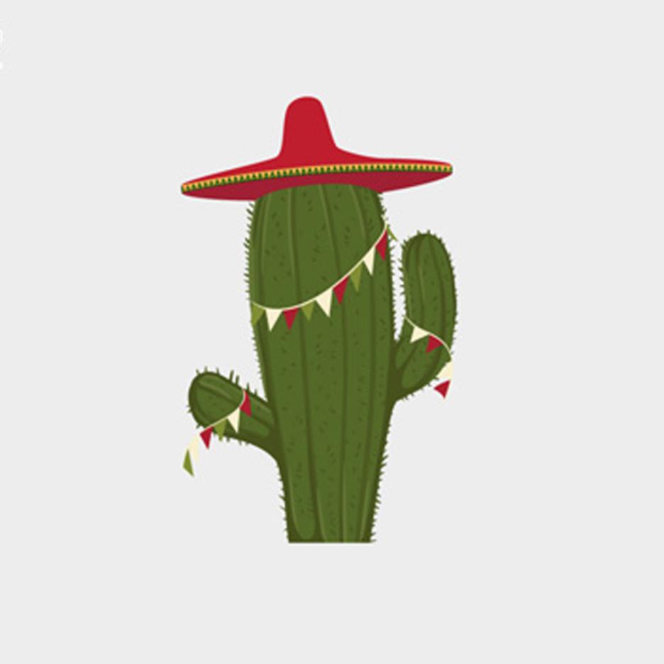 Free Festive Cactus Vector