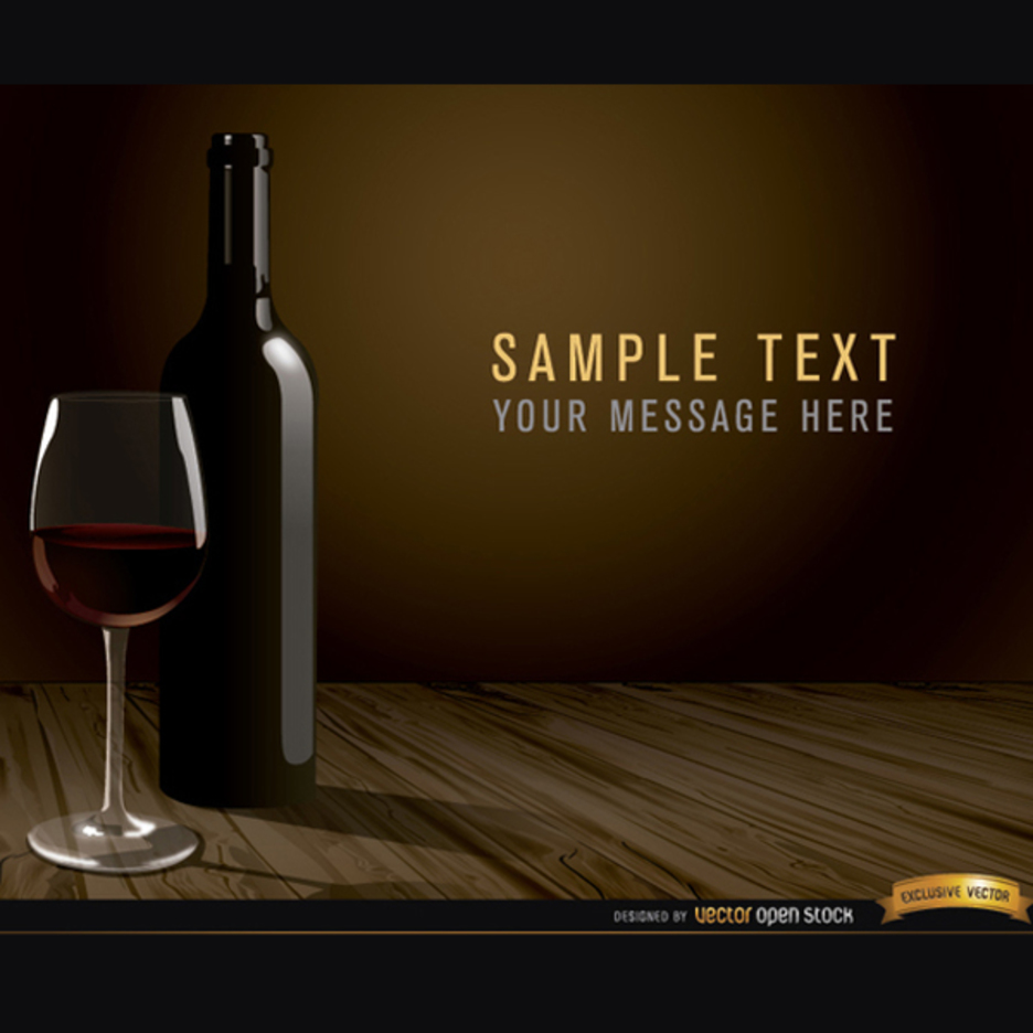 Free Vector Wine Glass and Bottle