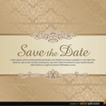 Damask Save the Date Vector Template