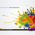 Free Vector Colorful Paint Splatter Background