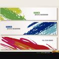 Free Vector Artistic Brushstroke Banners