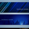 Blue Technology Vector Headers