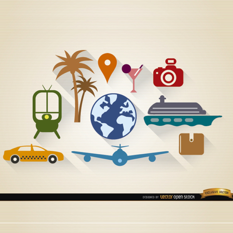 10 Free Travel and Tourism Vectors