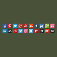 20 Free Vector Flat Shadow Social Icons