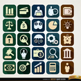 Free Vector Square Financial Icons