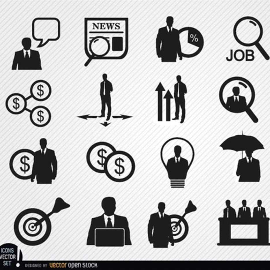 20 Free Vector Businessman icons