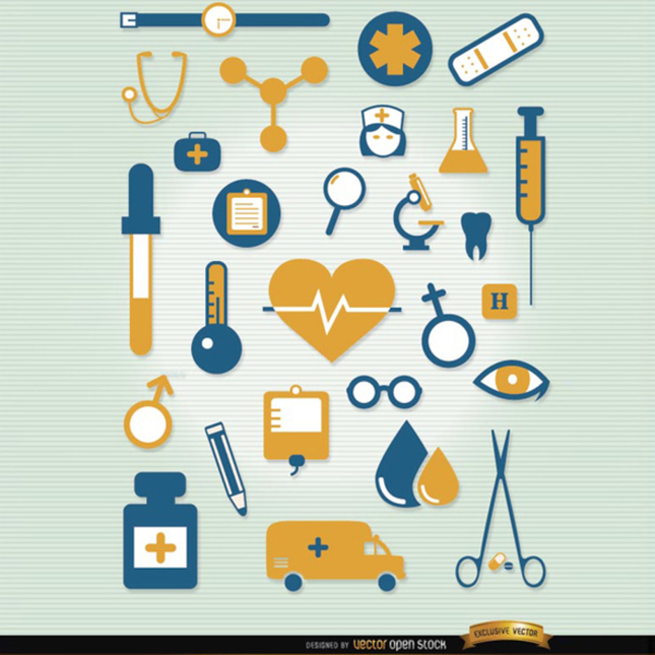 Hospital Icon Vector Set