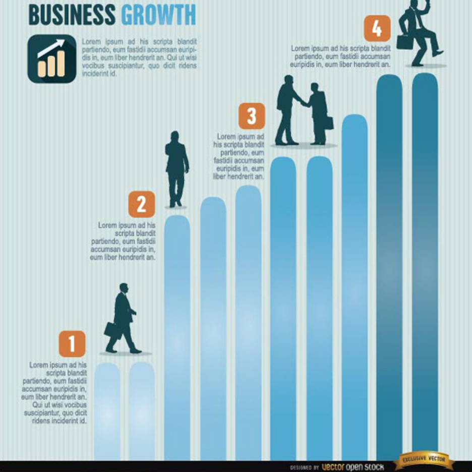 Free Vector Business Growth Infographics