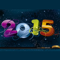 2015 Space Background Vector