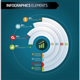 Free Vector Business infographic Graph