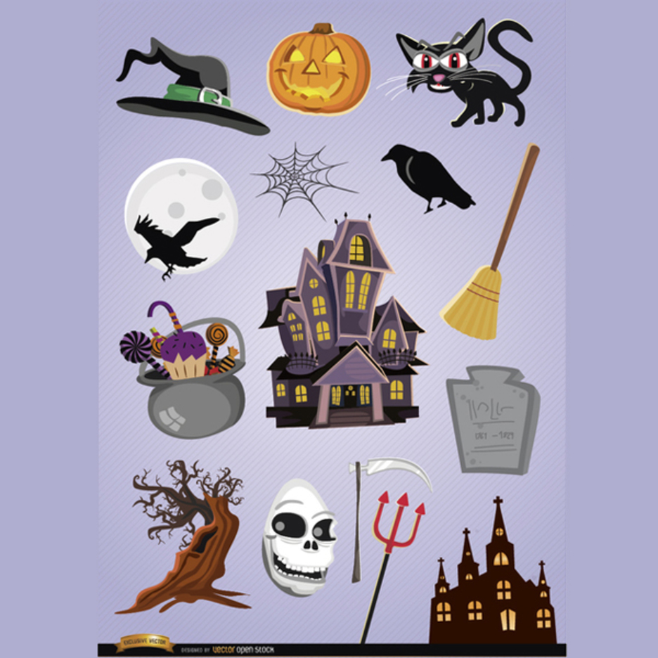 15 Horror Halloween Vector Cartoons