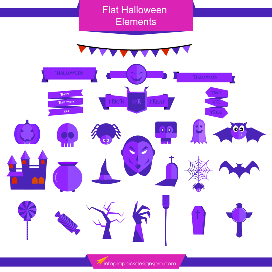 Free Vector Flat Halloween Elements
