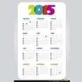 Simple 2015 Calendar Vector